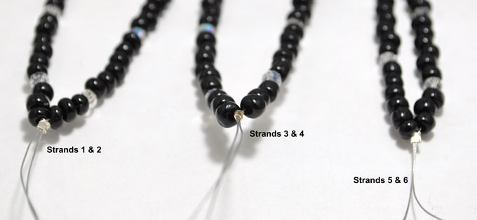 Step 8b: Crimp each pair of strands together