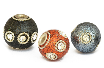 Glitter Kashmiri Beads