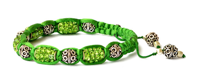Green Shamballa Bracelet