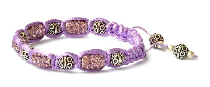 Violet Shamballa Bracelet