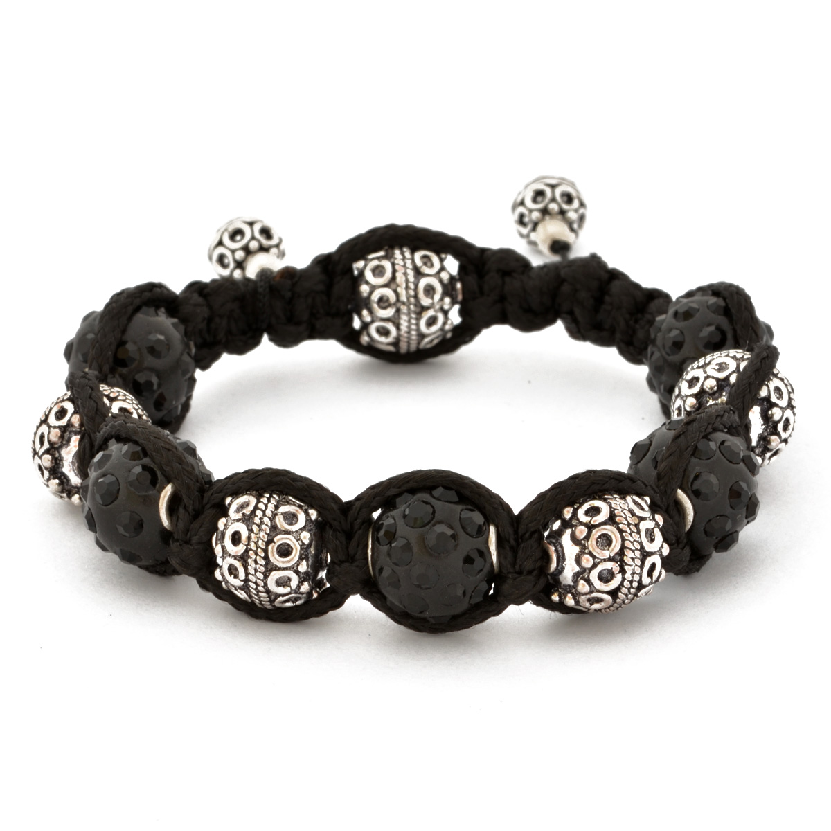 Gemstone Shamballa Bracelet Shamballa Bracelet With Black