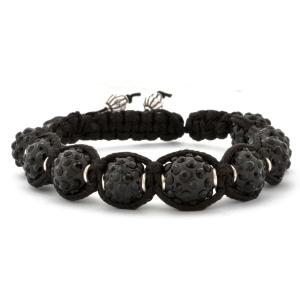 Black Shamballa Bracelet | MSBR-153