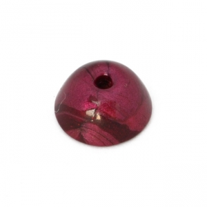 Deep-Pink Color Dome Beads with Maroon Color Spots