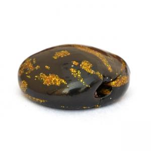 Black Tablet Beads having Golden Spots