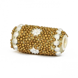 Dark Golden Beads Studded with Chains, Grains & Accessories