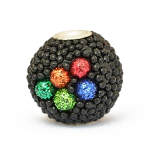 Kashmiri Beads Studded with Black Grains & Colorful Accessories