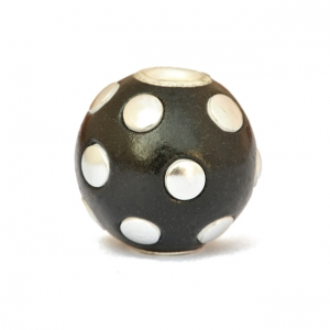 Black Kashmiri Beads Studded with Silver Color Accessories