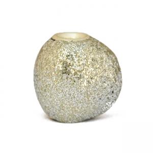 Silver Glitter Kashmiri Beads in Unusual Shape