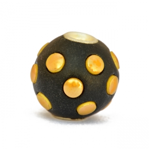 Black Kashmiri Beads Studded with Golden Accessories