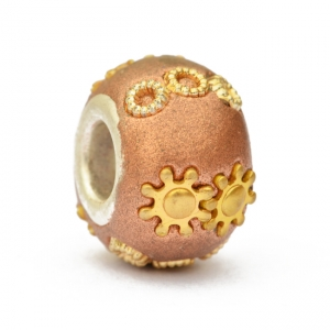 Shining Brown Euro Style Beads Studded with Rings & Accessories