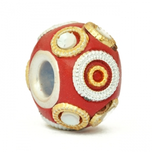 Red Euro Style Bead Studded with Accessories