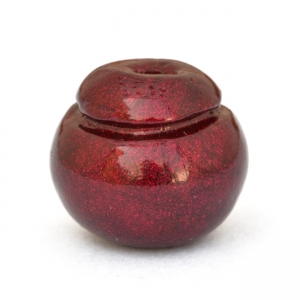 Unusual Shaped Maroon Lac Beads