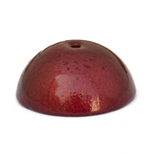 Dome Shaped Maroon Lac Beads