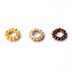 Copper Spacer Beads in 7x2mm