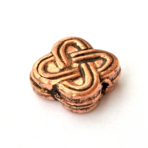 Square Flower Designed Oxidized Copper Beads in 10x10mm