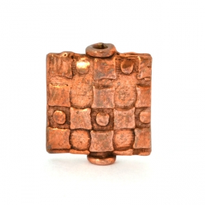 Oxidized Copper Square Beads in 14x12x3mm