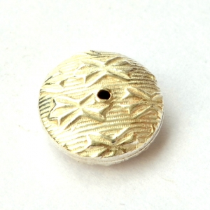 Silver Plated Flat Round Copper Beads in 10x4mm
