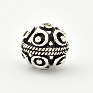 100gm Round Silver Plated Copper Beads in 12mm Diameter