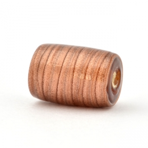 Shining Brown Cylindrical Glass Beads