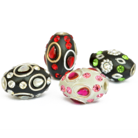 Barrel Shaped Kashmiri Beads