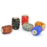 Rhinestone Beads (Brown, Black, Red, Gray, Blue, Orange)