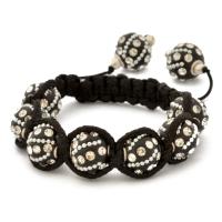 Designer Black Shamballa Bracelet | MSBR-162