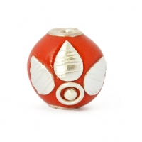 Red Round Beads Studded with Silver Plated Rings & Accessories
