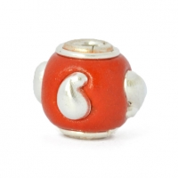 Red Round Kashmiri Beads Studded with Silver Plated Accessories