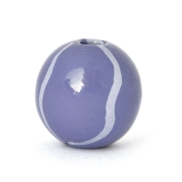 Blue Round Lac Beads with Light-Blue Stripes