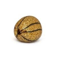Triangular Handmade Golden Beads with Black Stripes