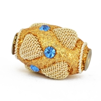 Golden Glitter Beads Studded with Rhinestones & Accessories