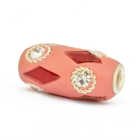 Pink Beads Studded with Metal Rings, Rhinestones & Accessories