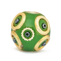 Green Kashmiri Beads Studded with Seed Beads & Accessories