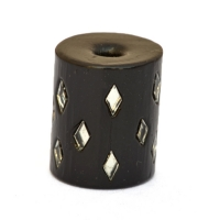 Black Beads Studded with Diamond Shaped Mirror Chips