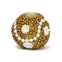 Golden Grain Beads Studded with Silver Color Accessories