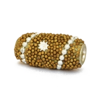 Golden Grain Kashmiri Beads Studded with Accessories