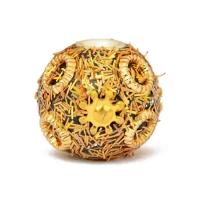 Golden Kashmiri Beads Studded with Golden Accessories