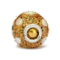 Golden Kashmiri Beads Studded with Silver Rings & Accessories