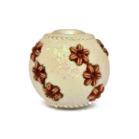 White Glitter Kashmiri Beads Studded with Flower Accessories