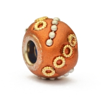 Shining Copper Color Euro Style Beads Studded with Rings & Chains