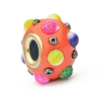 Red Euro Style Beads Studded with Colorful Accessories