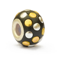 Black Pandora Beads Studded with Golden & Silver Accessories