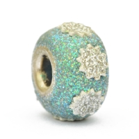 Glittering Blue Euro Style Bead Studded with Accessories