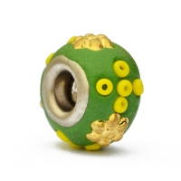 Green Euro Style Bead Studded with Seed Beads & Accessories