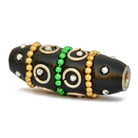 Black Kashmiri Beads Studded with Colorful Chains & Accessories