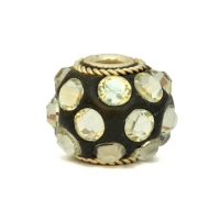 Black Kashmiri Beads Studded with Metal Rings & Accessories