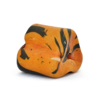Orange Triangular Beads having Black Spots