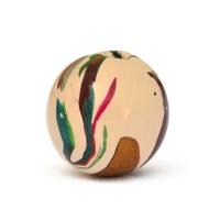 10mm Cream Color Lac Beads having Multi-color Spots
