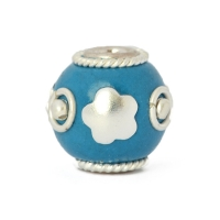Blue Round Beads Studded with Silver Plated Rings & Accessories