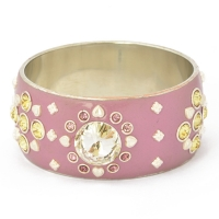 Handmade Purple Bangle Studded with Silver Plated Accessories & Rhinestones